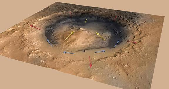 Bizarre Mars Mountain Possibly Built by Wind, Not Water