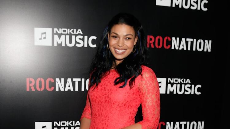 Jordin Sparks arrives at Roc Nation's Pre-Grammy Brunch at the Soho House on Saturday, Feb. 9, 2013 in Los Angeles. (Photo by Todd Williamson/Invision/AP)