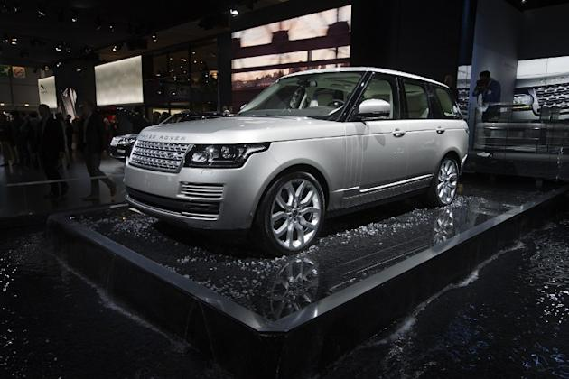 A Vogue Range Rover is displayed at the Porte de Versailles exhibition center in Paris. AFP Photo