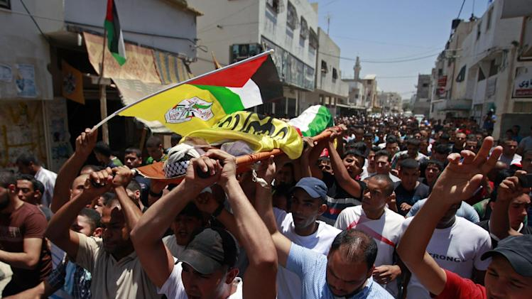 of Yousif Zagha, 20, who was killed by Israeli troops early Tuesday ...