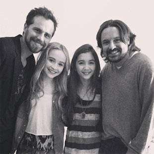 "Rider Strong and Will Friedle visit the set of ""Girl Meets World."" (Tumblr)"