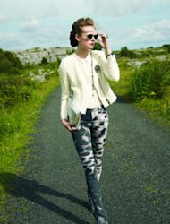 J Brand glacier-print skinny jeans amp up your weekend style.