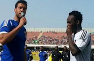 Essien beats Ballack in Africa charity game