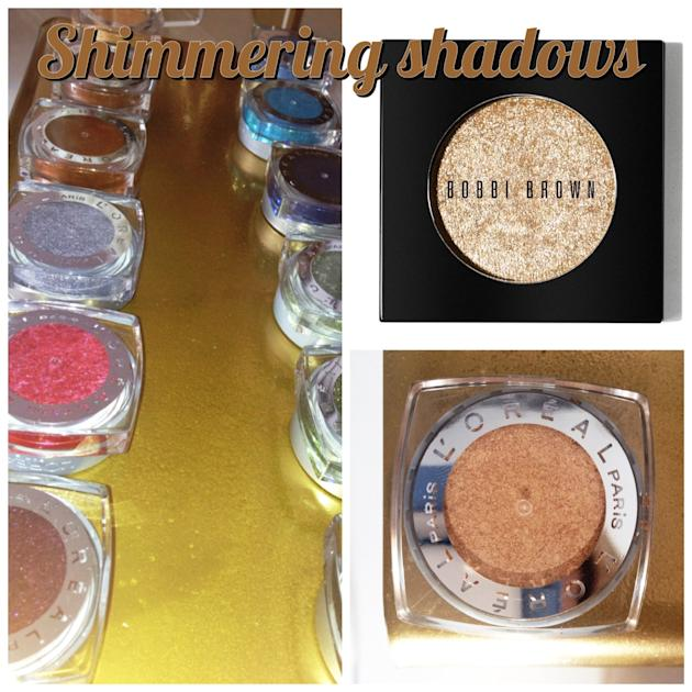 Shimmering eye shadow