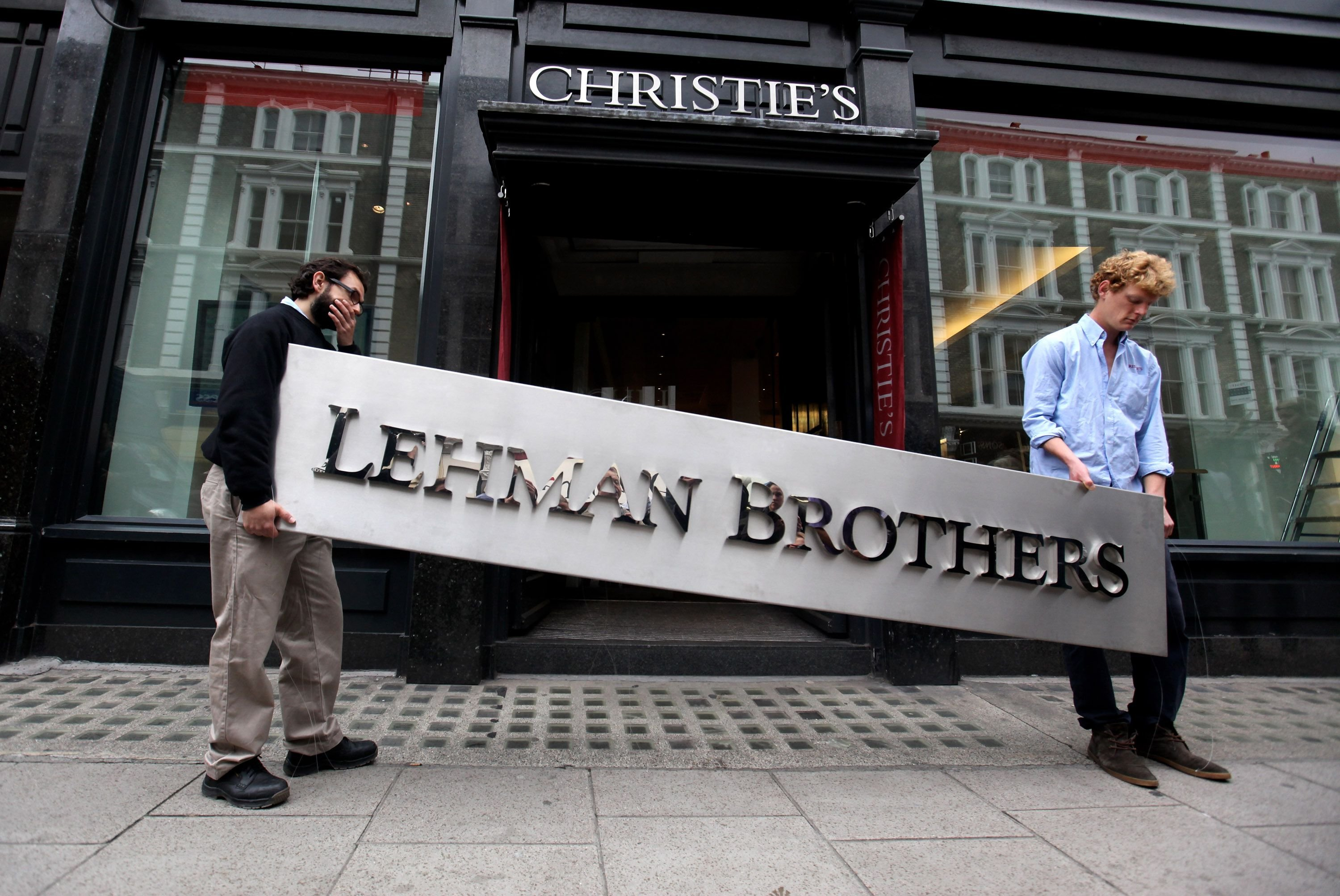 The collapse of Lehman Brothers precipitated the last financial crisis. Oli Scarff/Getty Images