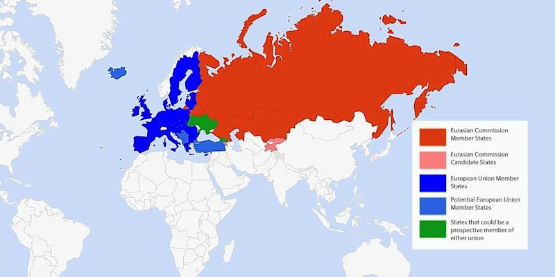 Eurasian Union Map