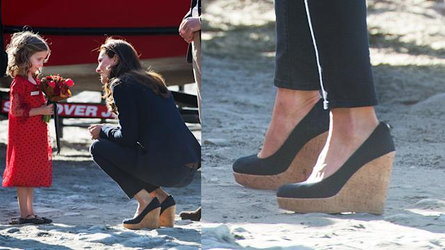 "Kate Middleton con cuñas ""made in Alicante"""