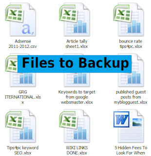 What Information Should You Be Protecting On Your Computer? image files to backup