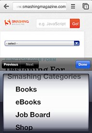 Not All Responsive Web Design is Created Equal image smashingmag select menu
