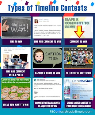 Types of Timeline Contests   Contest Facebook Infographic image types of timeline contest 6003