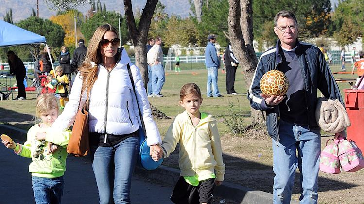 Denise Richards Watching Her Daughter Play Soccer In Los Angeles