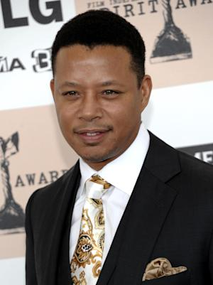FILE - In this Feb. 26, 2011 file photo, actor Terrence Howard arrives at the Independent Spirit Awards in Santa Monica, Calif. A Los Angeles judge on Tuesday granted Howard's estranged wife Michelle a temporary restraining order after she alleged the Oscar-nominated actor had repeatedly threatened her. (AP Photo/Dan Steinberg, file)
