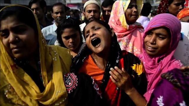 Emotional, violent protests a year after Bangladesh disaster