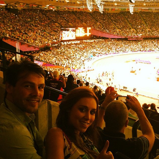 Una Healy and Ben Foden were at the Olympics on Sunday