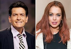 Charlie Sheen, Lindsay Lohan | Photo Credits: Paul Drinkwater/NBC/Getty Images, Michael Stewart/Getty Images