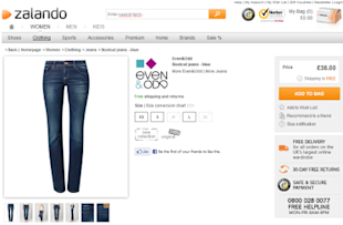 The Secrets of Conversion Optimisation and the Checkout Area  image Even Odd Bootcut jeans blue Zalando.co .uk 3