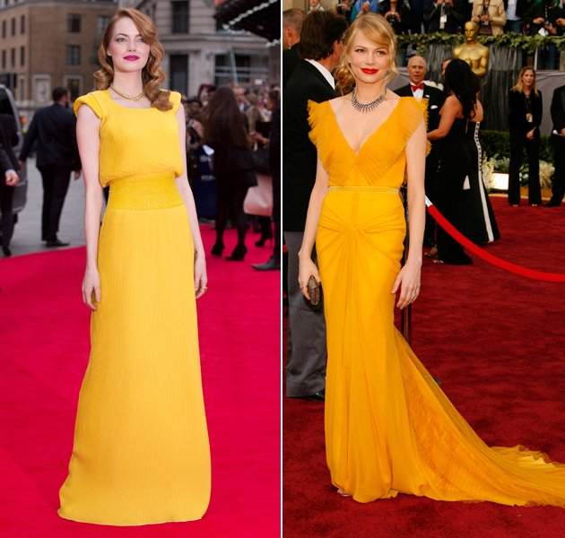 Emma Stone (l.) vs. Michelle Williams (r.): Wem steht's besser?