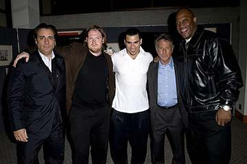 "Premiere: Andy Garcia, Donal Logue, Franky G, Dustin Hoffman and Tom ""Tiny"" Lister Jr. at the LA premiere of Lions Gate's Confidence - 4/15/2003"