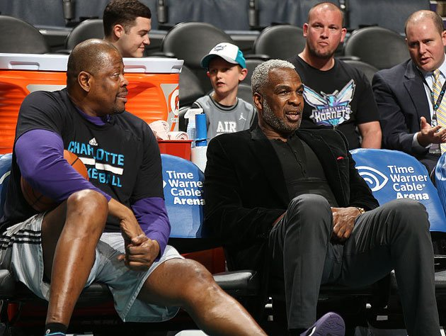 Patrick Ewing and Charles Oakley talk about that thing they did to Duane Ferrell once. (Getty Images)