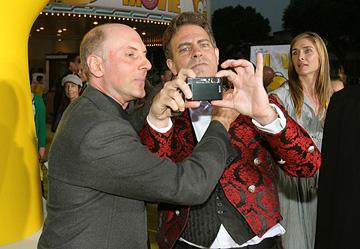 Dan Castellaneta and director David Silverman at the Los Angeles premiere of 20th Century Fox's The Simpsons Movie