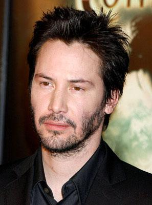 Keanu Reeves at the Hollywood premiere of Warner Bros. Pictures' Constantine