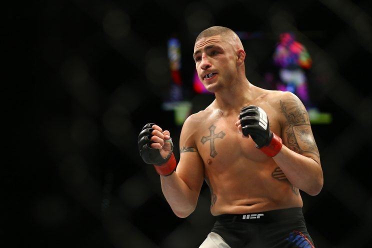 Diego Sanchez during his fight against Jim Miller at UFC 196. (Getty Images)