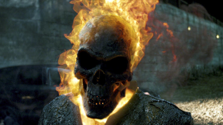 "In this film image released by Columbia Pictures, a scene is shown from ""Ghost Rider: Spirit of Vengeance,"" in theaters Friday, Feb. 17, 2012. (AP Photo/Columbis Pictures-Sony)"