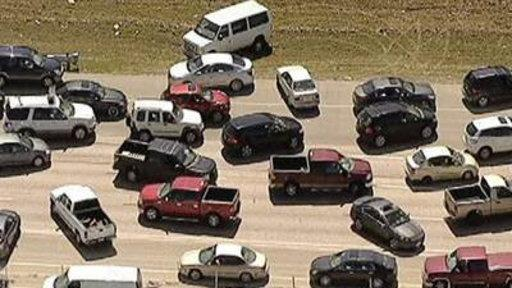Drivers Create Massive Jam On Dallas Highway