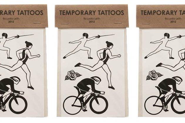 Abziehbare Tattoos mit Motiven der Olympischen Spiele (Bild via www.culturelabel.org)