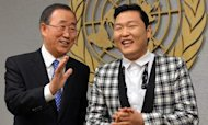 Psy Does Gangnam Style Dance With UN Leader