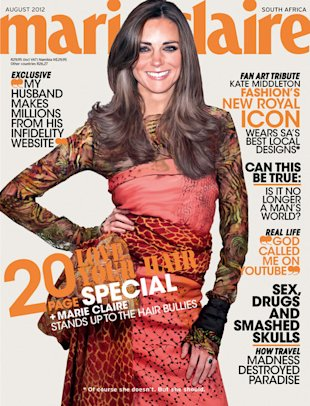 Is that really Kate Middleton, or just a hyper-real illustration? (Photo: Marie Claire)