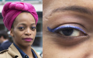 Kalyca shows us the right way to wear bright eyeliner