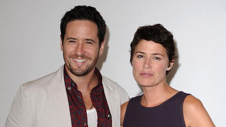 """The Whole Truth's"" Rob Morrow and Maura Tierney arrive at NBC Universal's 2010 TCA Summer Party on July 30, 2010 in Beverly Hills, California."