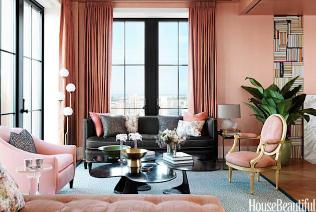Salmon Pink Living Room
