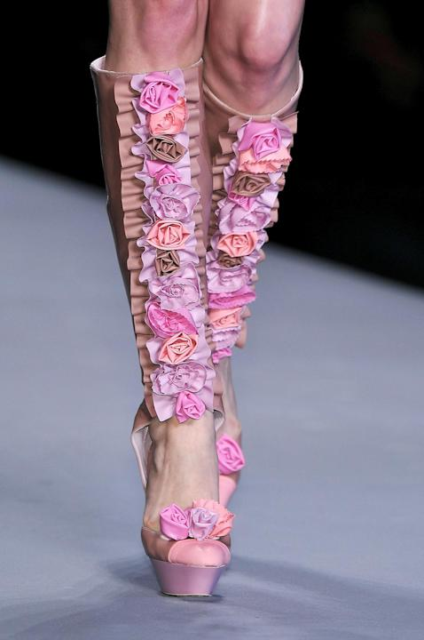 Viktor and Rolf Cutaway Knee-High Boots, S/S 2010