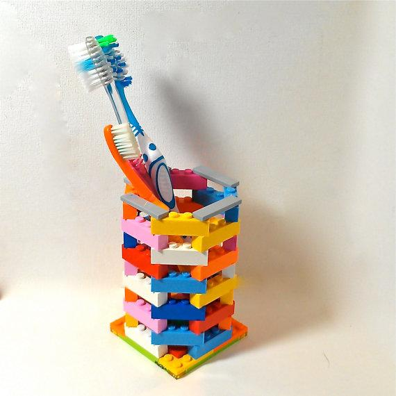 LEGO Toothbrush Holder