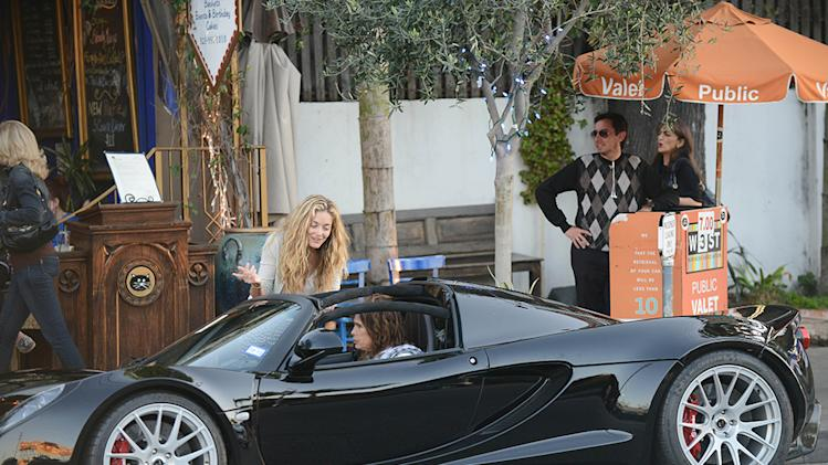 Steven Tyler Leaves A Dinner Party In His $1.1 million dollar Hennessey Venom GT Spyder convertible