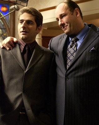 Michael Imperioli and James Gandolfini HBO's The Sopranos
