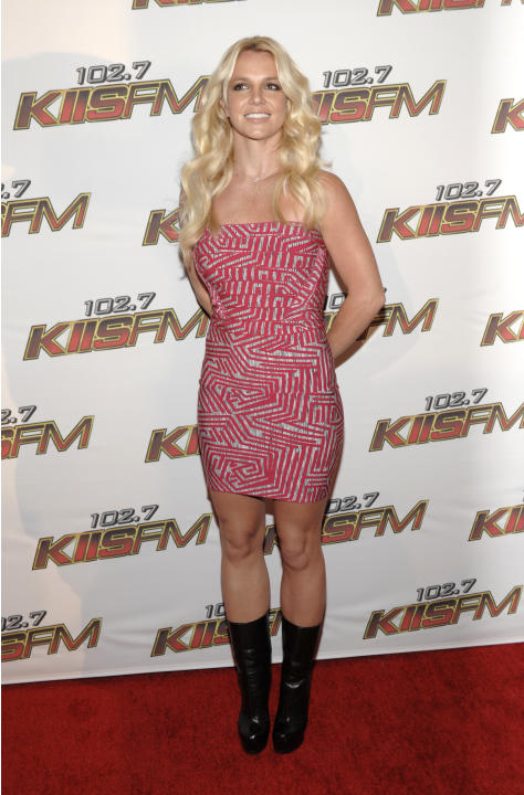 Singer Britney Spears arrives at KIIS FM's Wango Tango in Los Angeles on Saturday, May 14, 2011.  (AP Photo/Dan Steinberg)