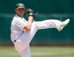In 18 starts this season, Scott Kazmir is 5-5 with a 2.38 ERA and 101 strikeouts in 109 2/3 innings. (Getty)
