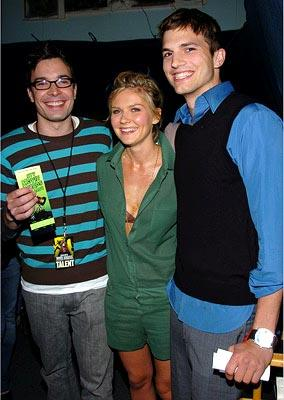 Jimmy Fallon, Kirsten Dunst and Ashton Kutcher MTV Movie Awards - 6/5/2004