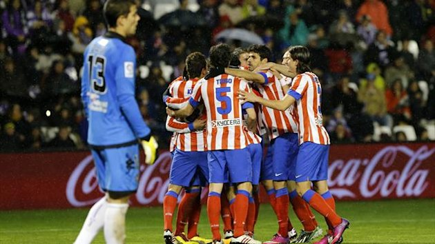 Atletico Madrid celebrate Falcao's opener (AFP)