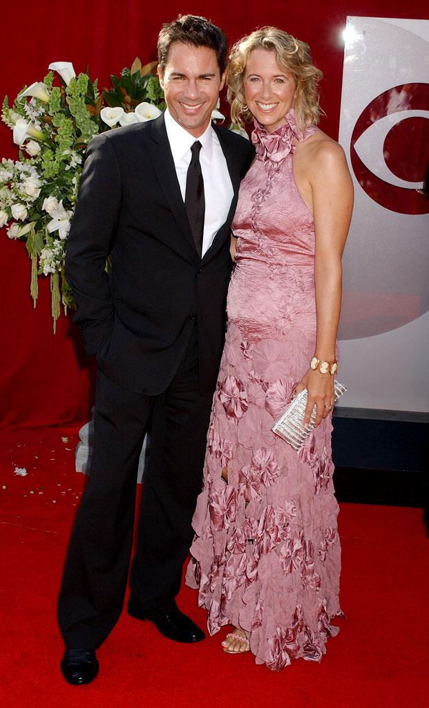 Eric McCormack and wife at The 57th Annual Primetime Emmy Awards.