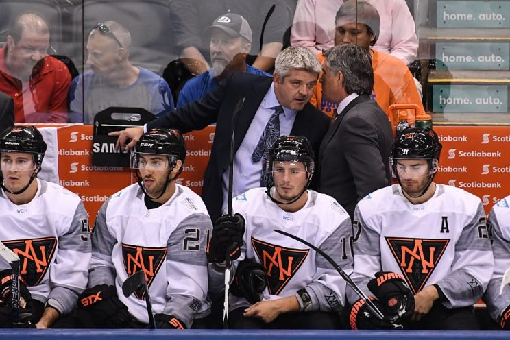 Todd McLellan at the World Cup of Hockey. (Getty Images)