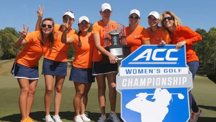 The University of Virginia won the 2016 ACC women's golf championship.