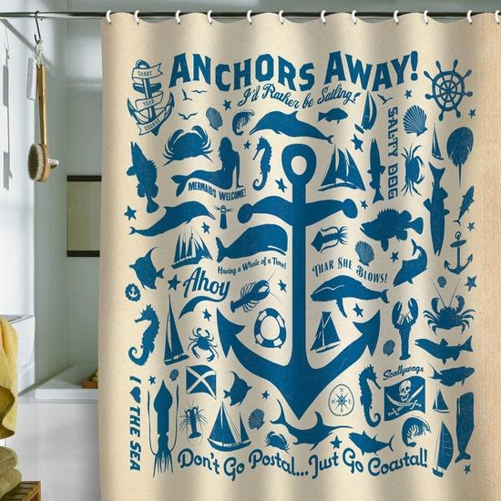 Sail Away Shower Curtian