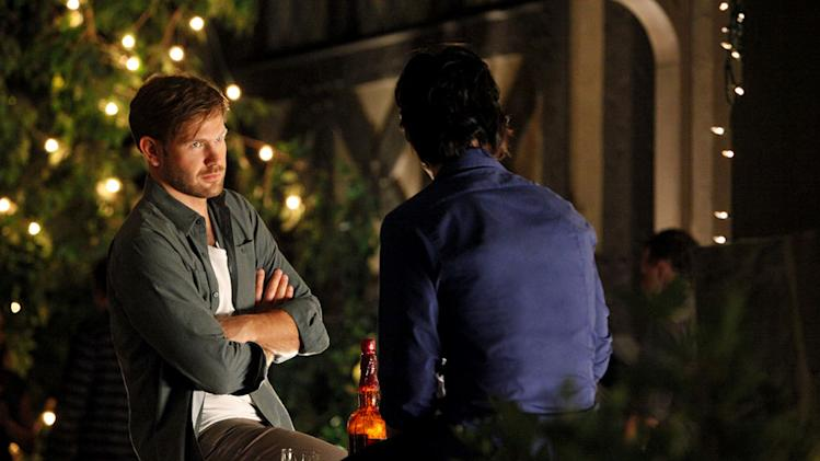 """THE BIRTHDAY ""--LtoR: Matt Davis as Alaric and Ian Somerhalder as Damon on THE VAMPIRE DIARIES on The CW. Photo: Quantrell D. Colbert/The CW ©2011 The CW Network. All Rights Reserved. Vampire Diaries"