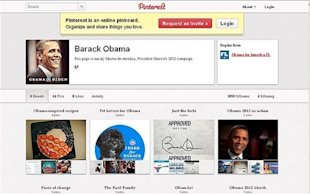 president Barack Obama's Pinterest Board