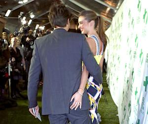 "Miranda Kerr Grabs Orlando Bloom's Butt at Pre-Oscars Party, Looks ""Blissfully in Love"": Pictures"
