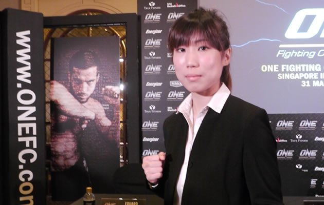 Nicole Chua - Singapore's first professional female MMA fighter (Yahoo! photo)